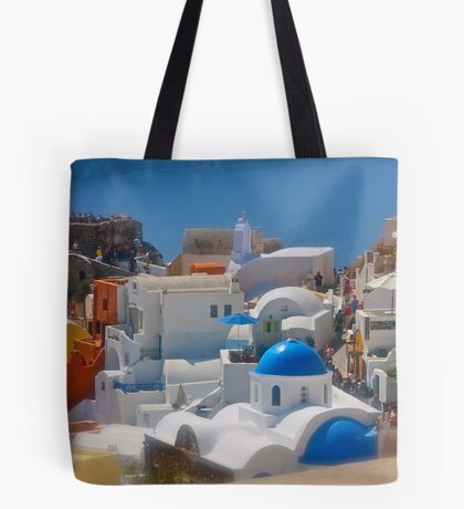 Santorini . Oia . (Greece) by Brown Sugar . Merry Christmas Everyone ******* F** Views (1517) . Favs (4) thanks , dzięki !!! Tote Bag