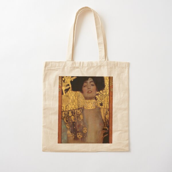 Judith and the Head of Holofernes (also known as Judith I) is an oil painting by Gustav Klimt created in 1901. It depicts the biblical character of Judith Cotton Tote Bag