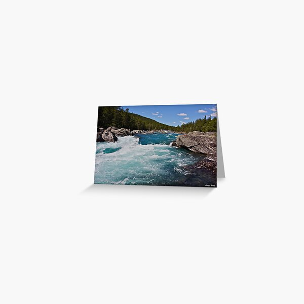 Wonderful Norway . Otta River . Oppland . Brown Sugar Story. Has been SOLD. Greeting Card