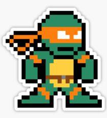 8-Bit TMNT Mikey (No Text) Sticker