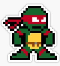 8-Bit TMNT Raph (No Text) Sticker