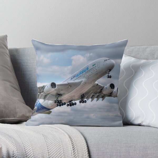 Airbus A380 - Take-Off Throw Pillow