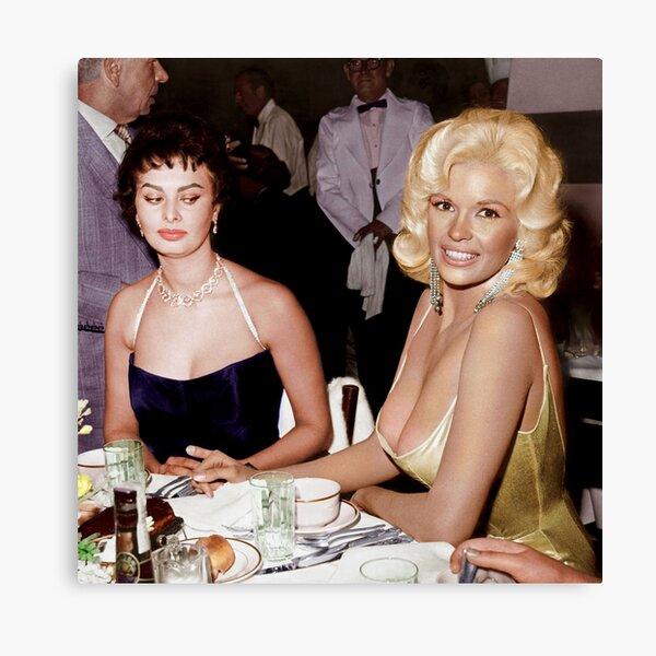 Sophia Loren and Jayne Mansfield 1957 - In Color Canvas Print