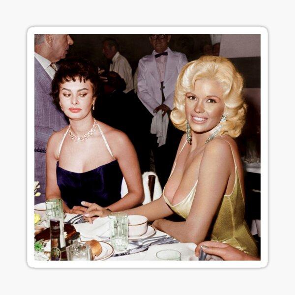 Sophia Loren and Jayne Mansfield 1957 - In Color Sticker
