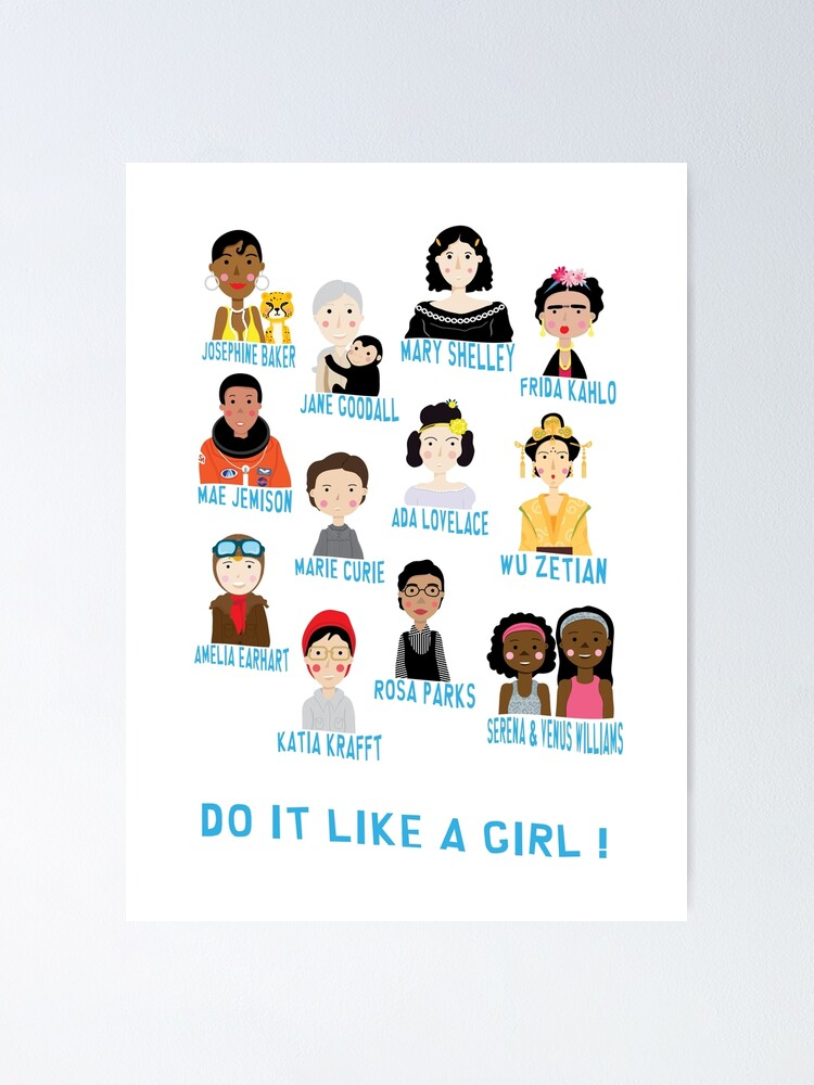 Poster ''Do it like a girl!' : autre vue