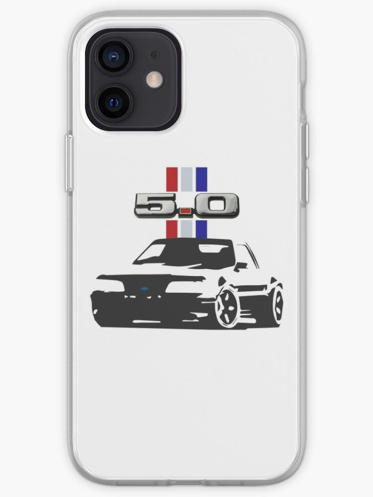 Rétro Ford Mustang Foxbody 5.0 Logo Emblème | Coque iPhone