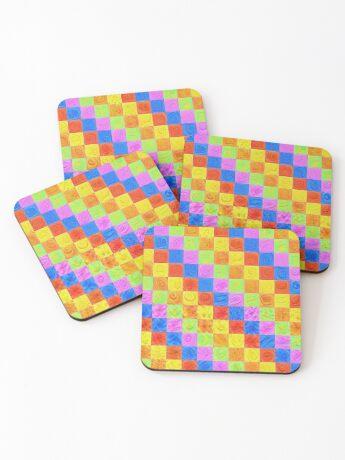 #DeepDream color factures Coasters
