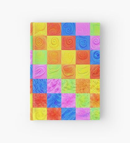 #DeepDream color factures Hardcover Journal