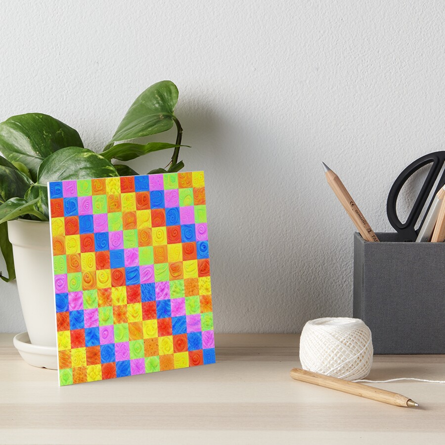 #DeepDream color factures Art Board Print