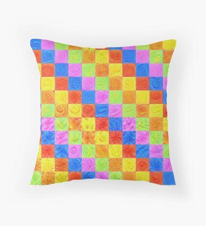 #DeepDream color factures Throw Pillow