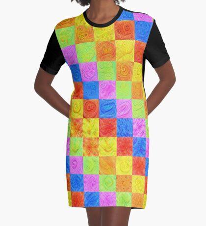 #DeepDream color factures Graphic T-Shirt Dress