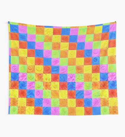 #DeepDream color factures Wall Tapestry