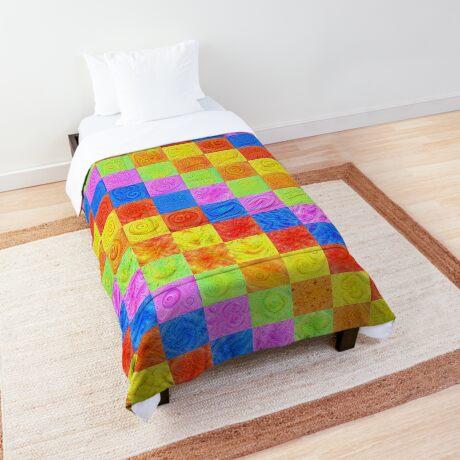 #DeepDream color factures Comforter