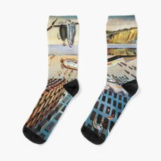 Salvador, Dali, surrealist. The Disintegration of the Persistence of Memory (1952-1954). Socks