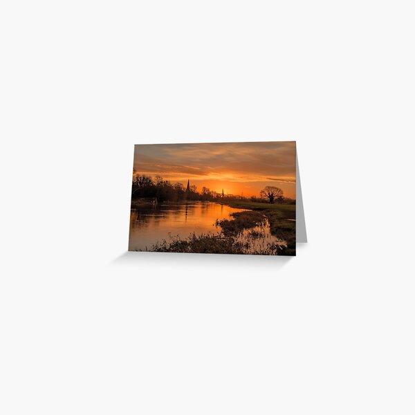#65 Normanton on Soar Sunrise Greeting Card