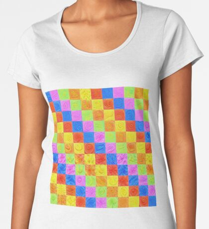 #DeepDream color factures Premium Scoop T-Shirt