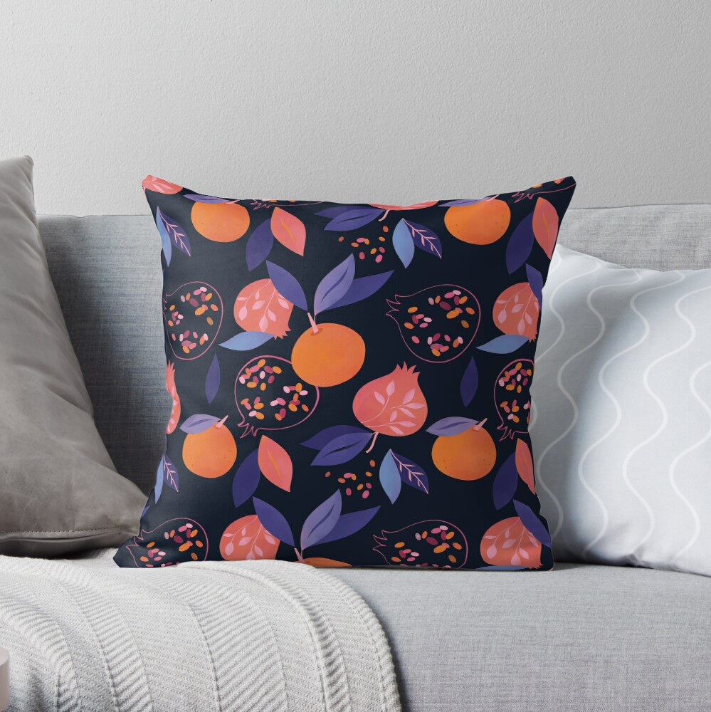 Fruit Gathering  Throw Pillow