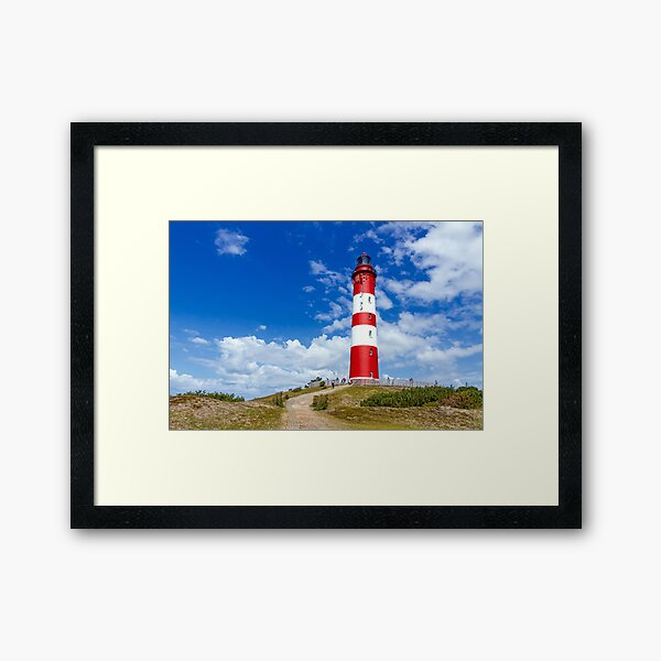 Lighthouse on the island Amrum Framed Art Print