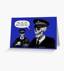 Skeleton Police (Blue) Greeting Card