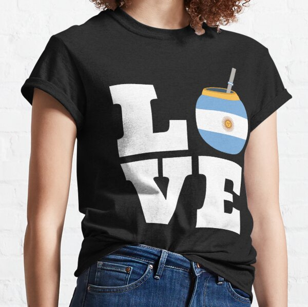 Yerba Mate With Argentina Flag Classic T-Shirt