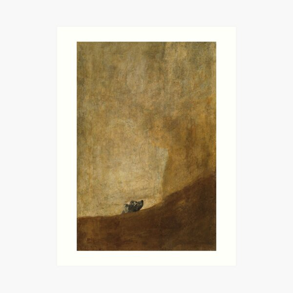 The Dog by Francisco Goya, 1823 Art Print