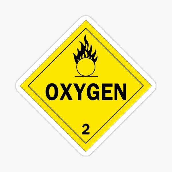Oxygen Hazard Diamond Sticker