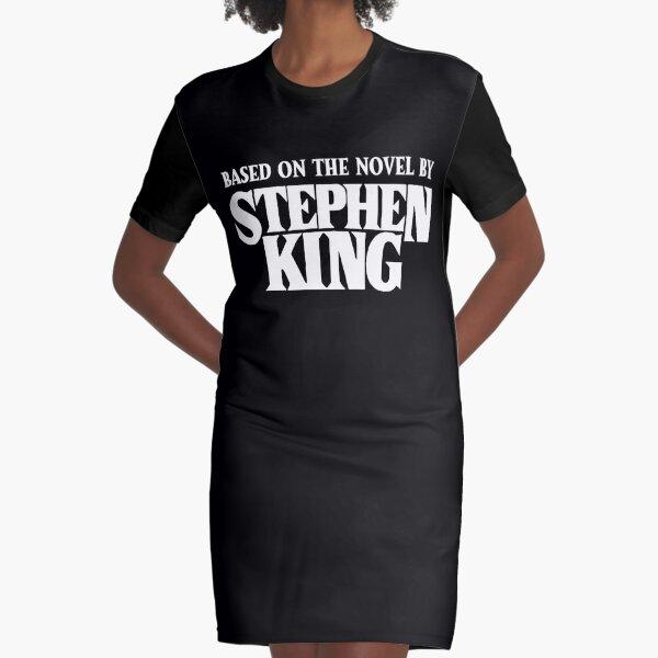 Based on the Novel - White Graphic T-Shirt Dress