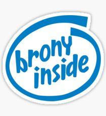 Brony Inside Sticker
