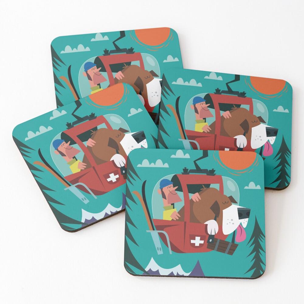 Switzerland Poster Coasters (Set of 4)
