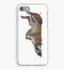 Derpasaurus greyhound  iPhone Case/Skin