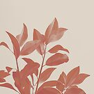 Nature portrait Leaves in red by by-jwp