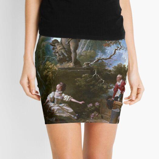 The Progress of Love - The Meeting by Jean-Honoré Fragonard Mini Skirt