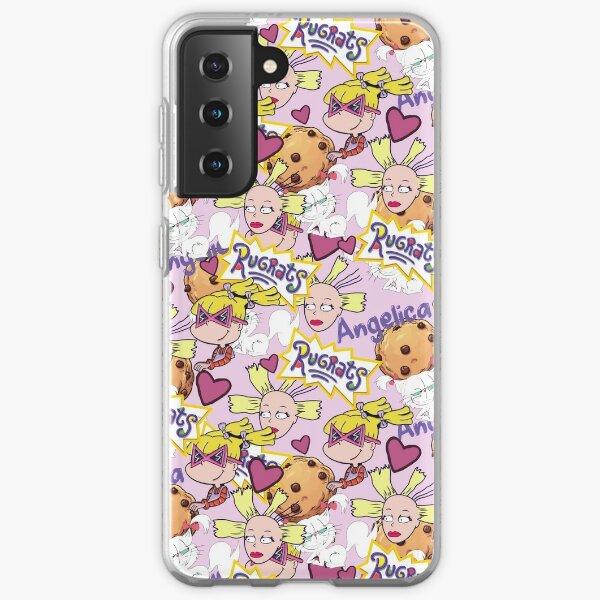 Rugrats Angelica Cynthia Doll Fluffy Cat 90's Kid Pattern  Samsung Galaxy Soft Case