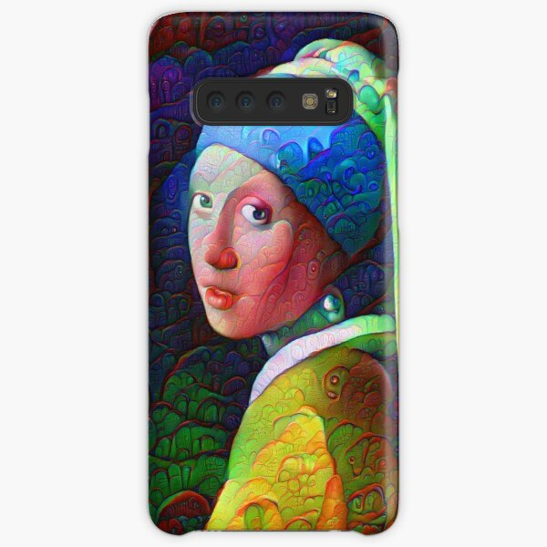 """DeepDreamed """"Girl with a Pearl Earring"""" Samsung Galaxy Snap Case"""