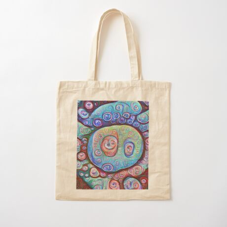 #DeepDream Ice Cotton Tote Bag