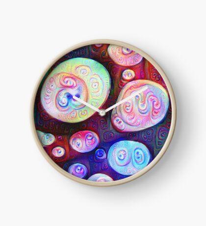 #DeepDream bubbles on frozen lake 5x5K v1450615886 Clock