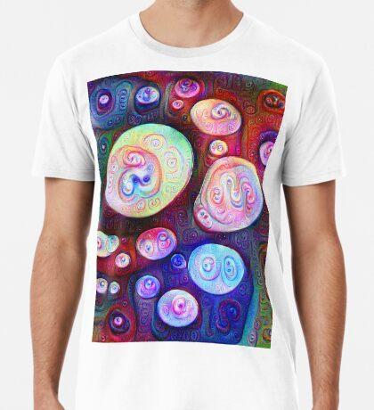 #DeepDream bubbles on frozen lake 5x5K v1450615886 Premium T-Shirt