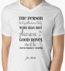 Pleasure of a Good Novel - Jane Austen T-Shirt