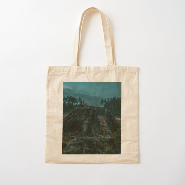 Tree Stump Cotton Tote Bag