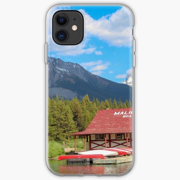 Maligne Lake in Banff Alberta Canada iPhone Soft Case