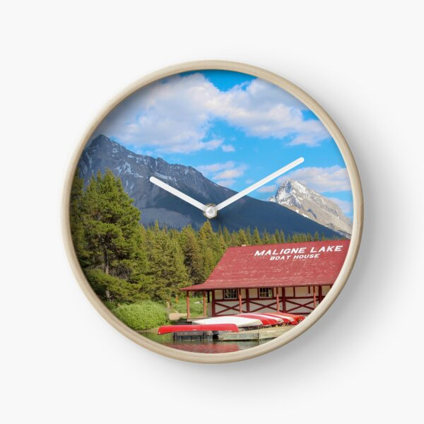 Maligne Lake in Banff Alberta Canada Clock