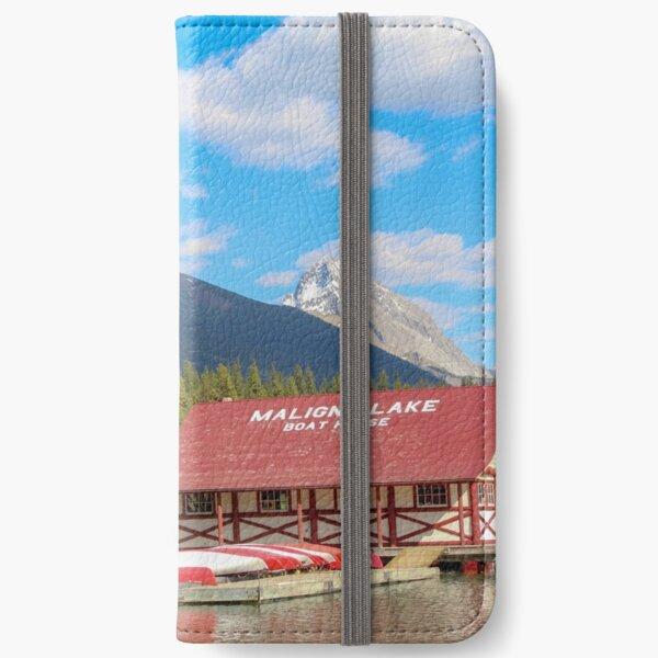 Maligne Lake in Banff Alberta Canada iPhone Wallet