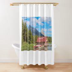 Maligne Lake in Banff Alberta Canada Shower Curtain