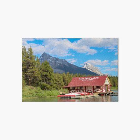 Maligne Lake in Banff Alberta Canada Art Board Print