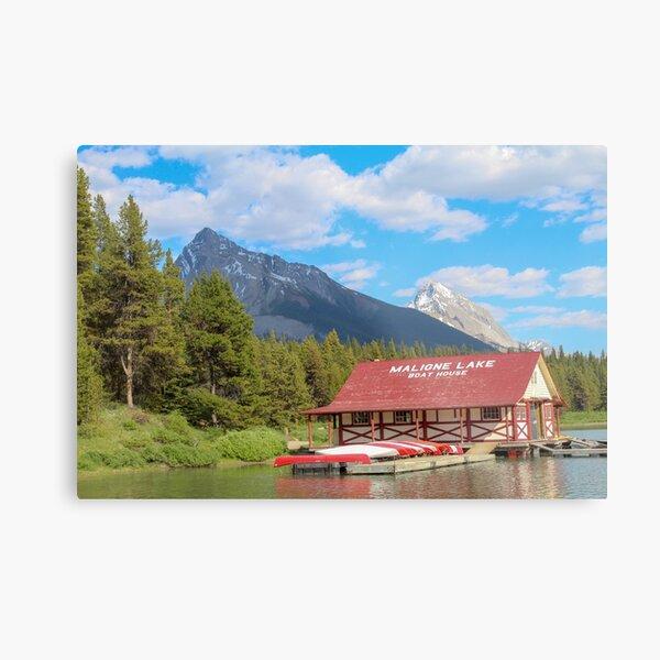 Maligne Lake in Banff Alberta Canada Metal Print