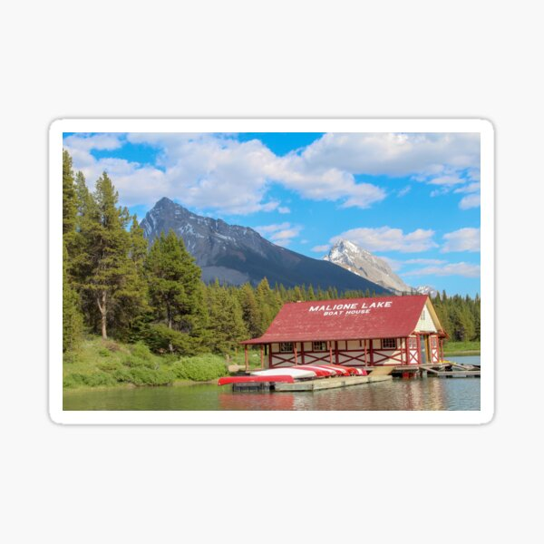 Maligne Lake in Banff Alberta Canada Sticker