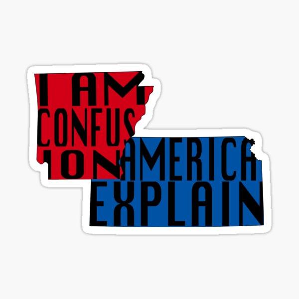 America Explain Sticker