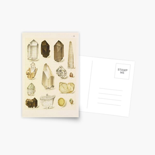 Quartz Minerals Postcard