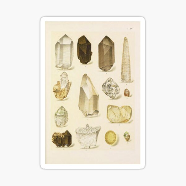 Quartz Minerals Sticker