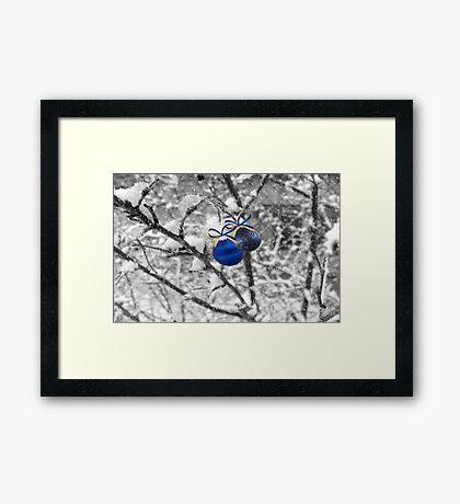 Blue Christmas ©  Framed Print